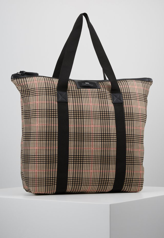 GWENETH TARTAN BAG - Shopping bag - moonlight beige