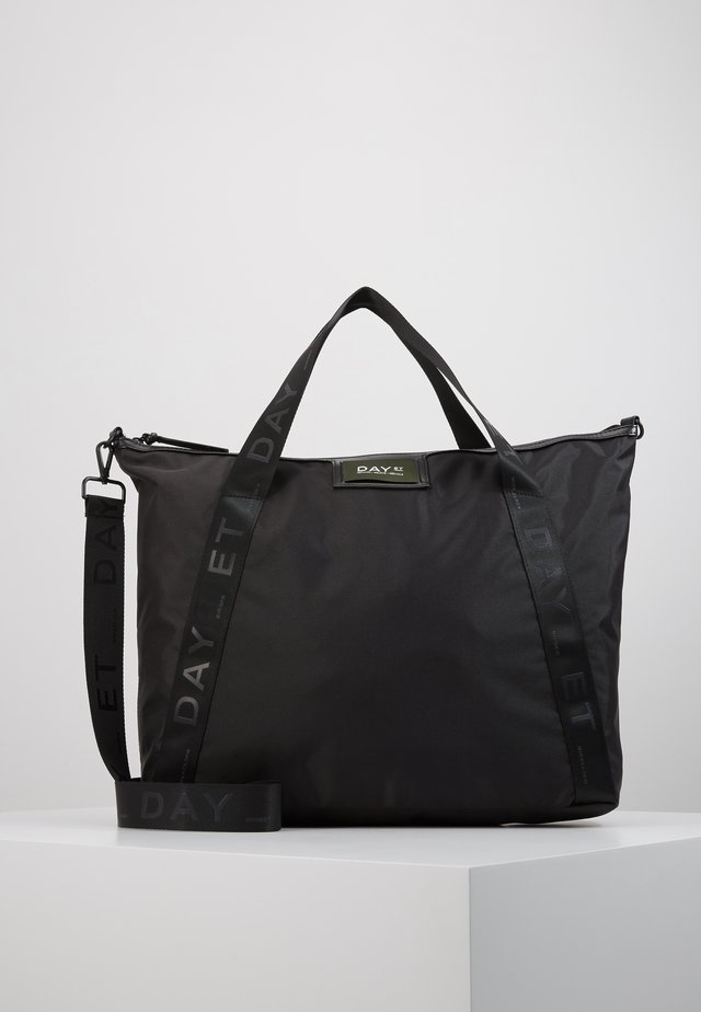 GWENETH RECYCLE CROSS - Tote bag - black