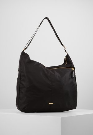 DOUBLE ZIP HOBO - Tote bag - black