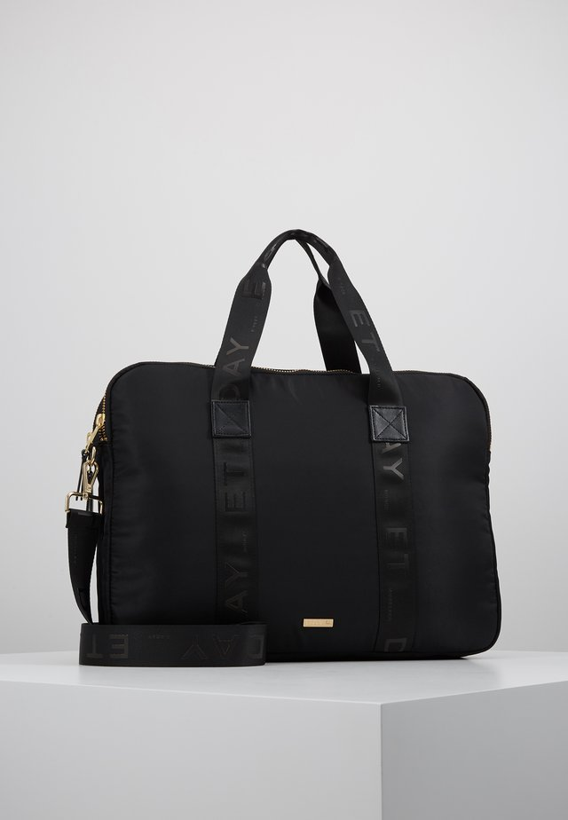 DOUBLE ZIP COMPUTER - Borsa porta PC - black