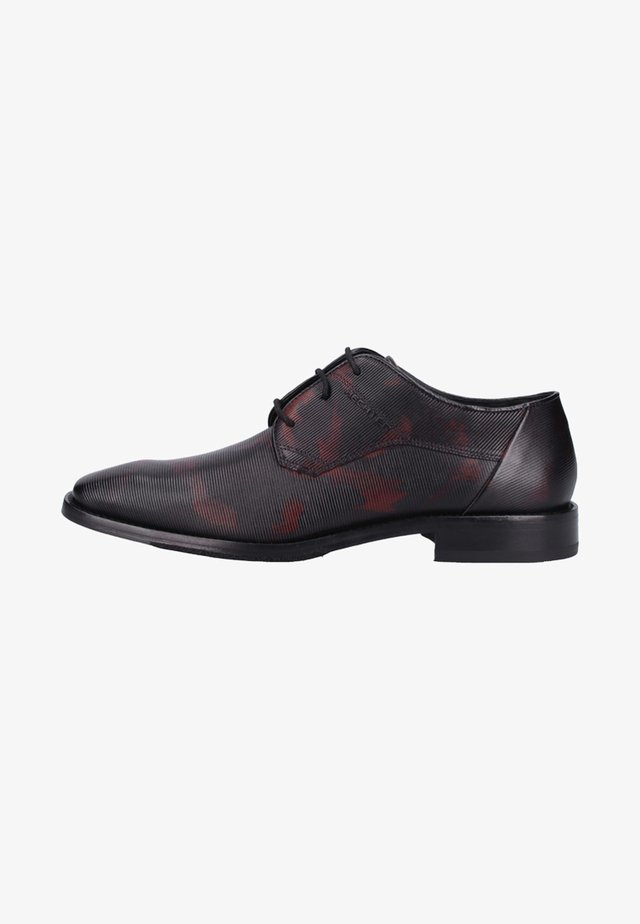 Smart lace-ups - black/red