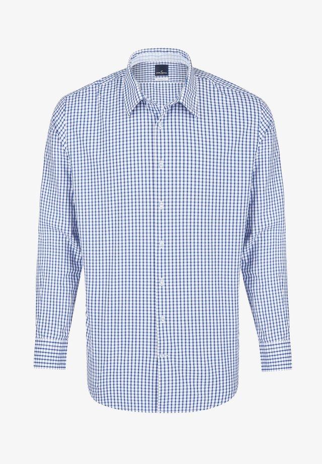 MIT KARO-MUSTER - Shirt - light blue