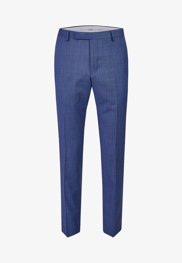 MIT ELEGANTEM MINIMAL KARO - Suit trousers - blue