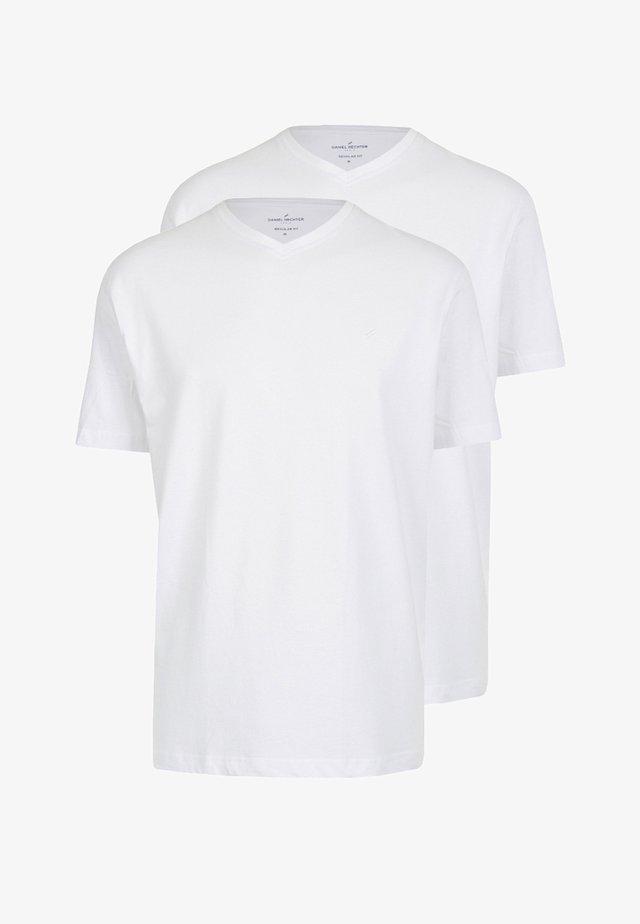 2 PACK - Basic T-shirt - weiss