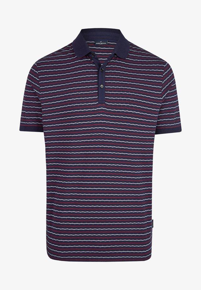 MIT GRAFISCHEM  - Polo shirt - dark blue