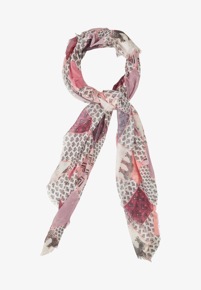 MIT GRAFISCHEM - Schal - pink