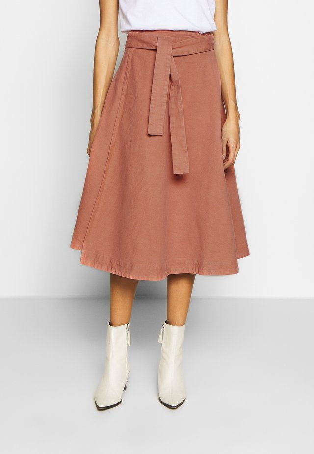 HEP SKIRT - A-lijn rok - dark peach