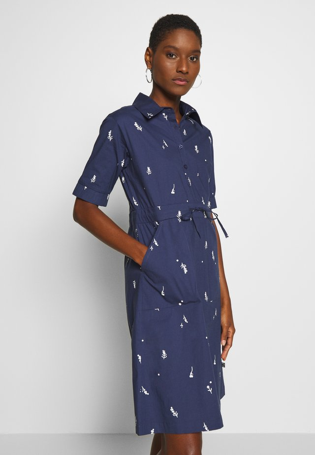 SUSANNE DRESS - Skjortekjole - navy markblomst