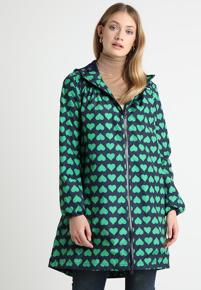 HELEN RAINJACKET - Regenjas - navy/green