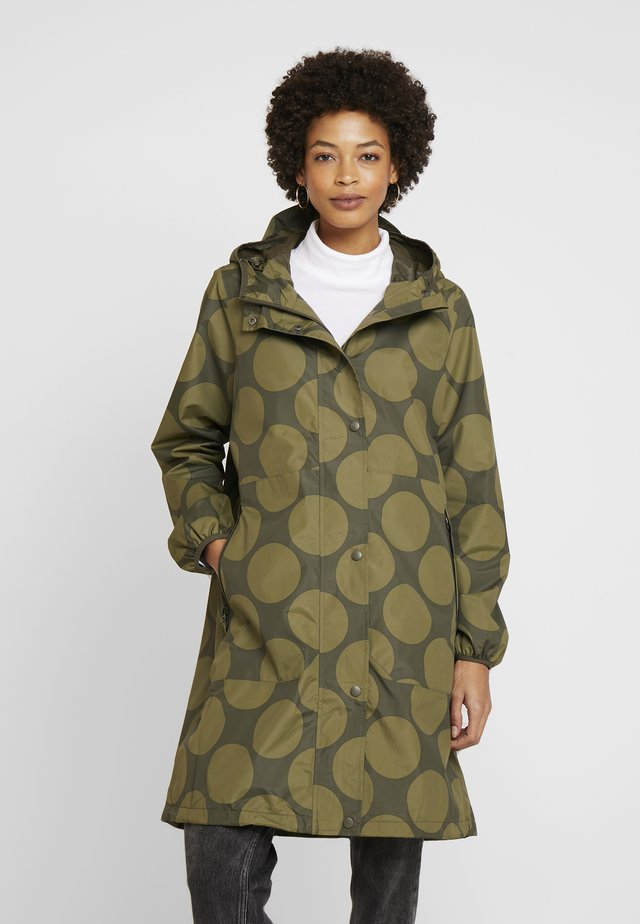 EDITH RAIN JACKET - Parka - army olive mega dot
