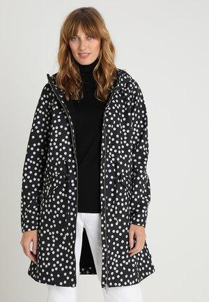 MARIANNE - Vodotěsná bunda - black/offwhite