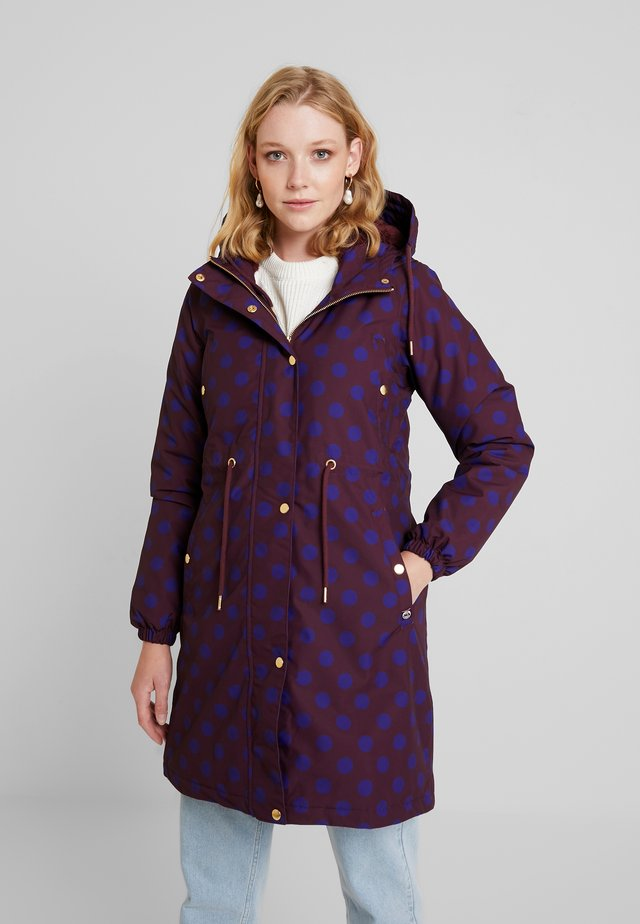 FLORA WINTER - Parka - dark bordeaux/purple blue