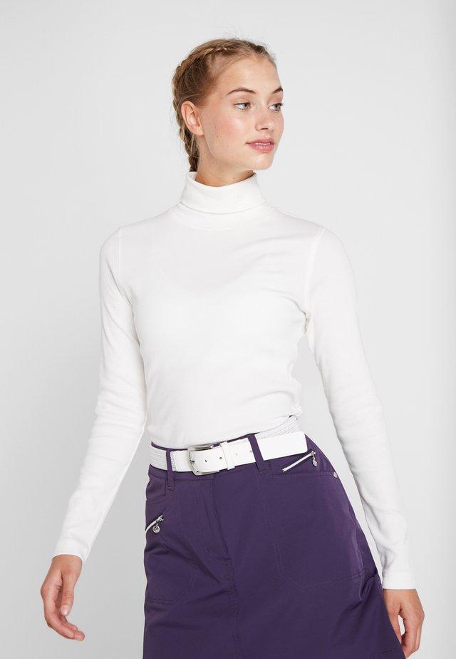 MAGGIE ROLL NECK - Bluzka z długim rękawem - white