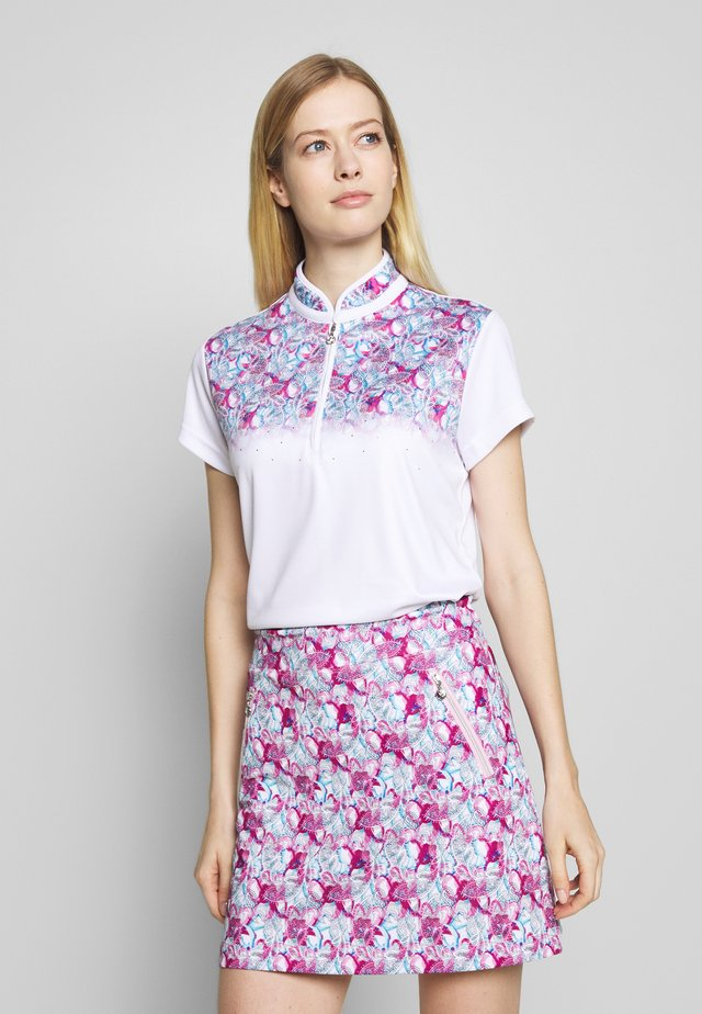 PAISLEY CAP - T-shirt imprimé - white
