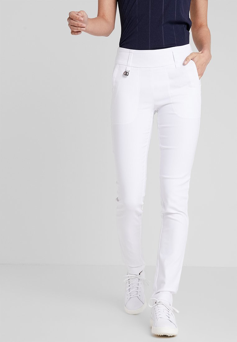 Daily Sports - MAGIC PANTS - Spodnie materiałowe - white