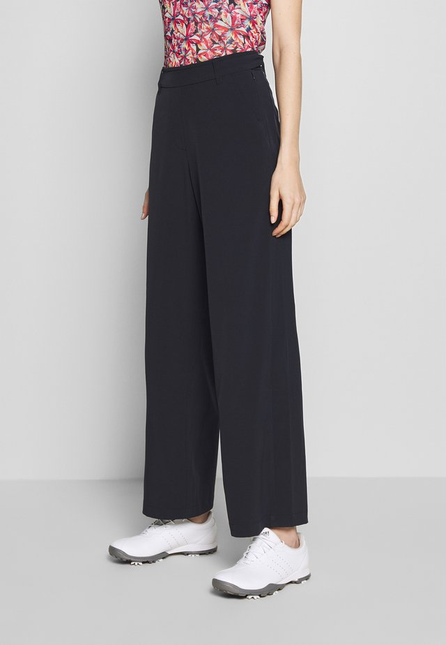 PALAZZO PANTS - Trousers - navy