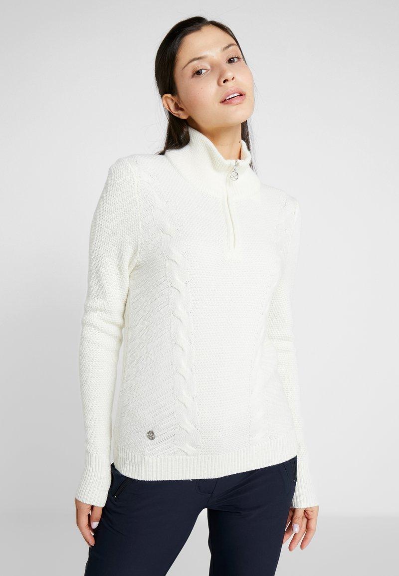 Daily Sports - CATTIE UNLINED - Stickad tröja - white