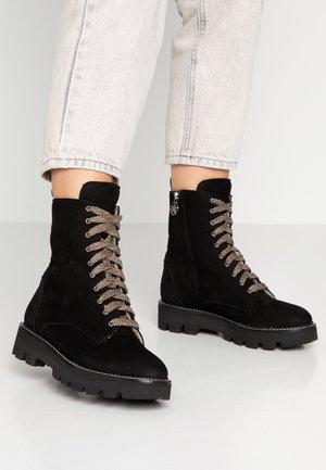 KALEY - Platform ankle boots - nero