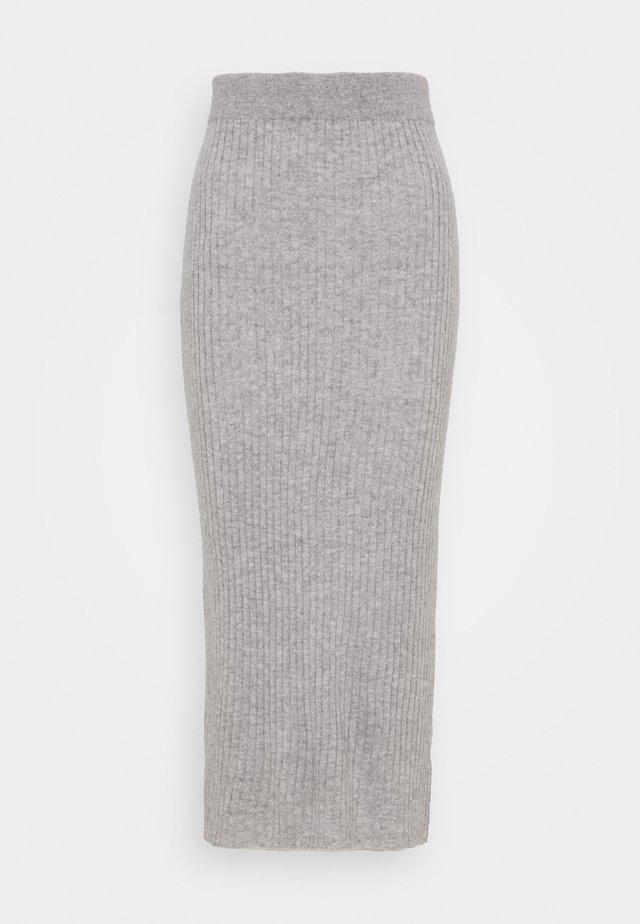 DETAIL SKIRT - Maxi skirt - light grey