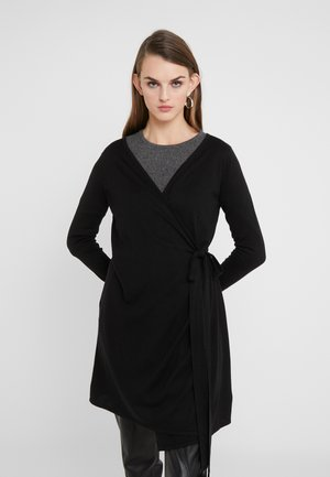WRAP OVER DRESS - Gilet - black