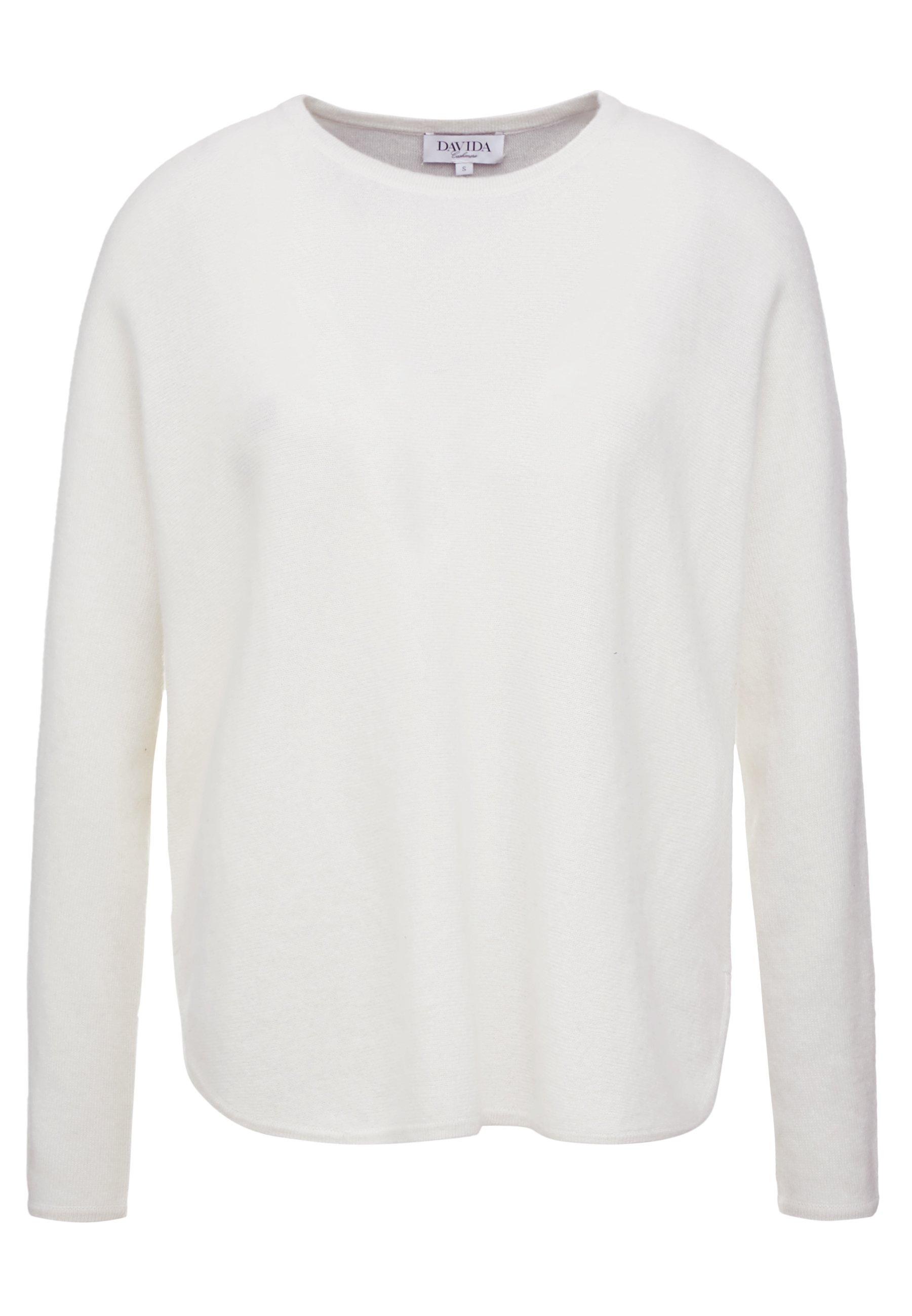 Davida Cashmere CURVED - Sweter - white
