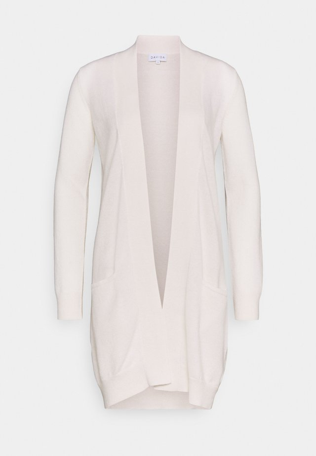 POCKET LONG - Cardigan - white