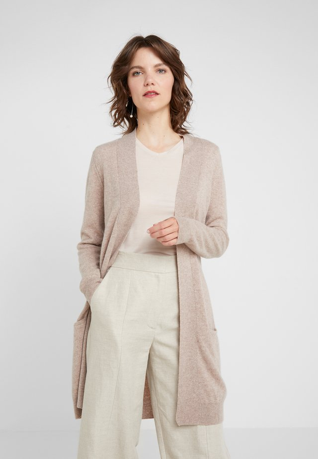 POCKET LONG - Strickjacke - sand
