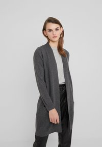 Davida Cashmere - POCKET LONG - Gilet - dark grey - 0