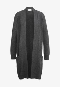 Davida Cashmere - POCKET LONG - Gilet - dark grey - 3