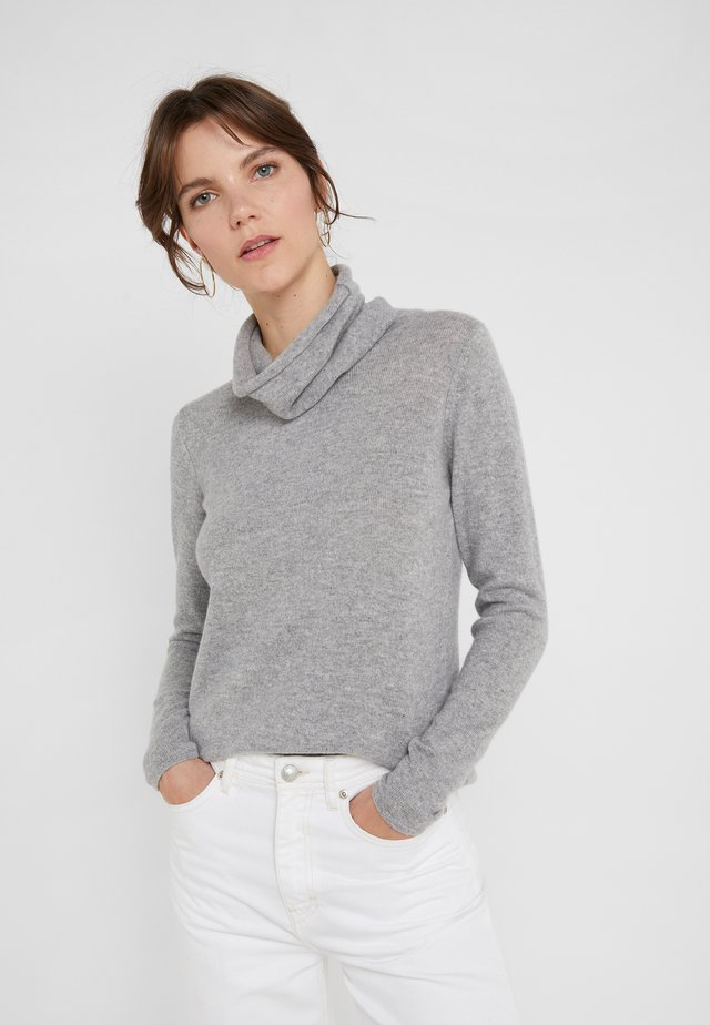 LOOSE TURTLENECK - Strikkegenser - light grey
