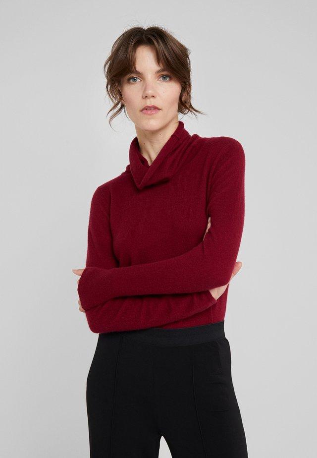 LOOSE TURTLENECK - Stickad tröja - bordeaux