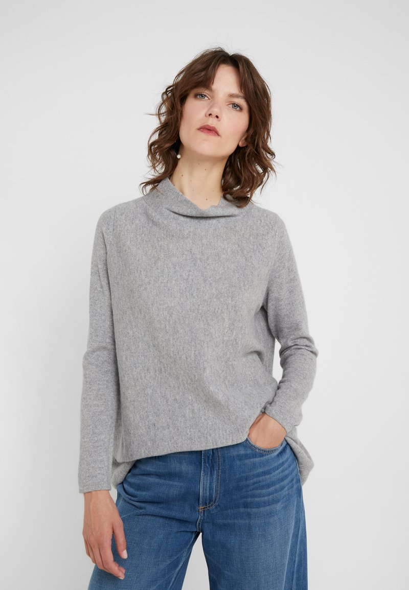 Davida Cashmere - TURTLENECK - Strickpullover - light grey