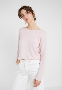 Davida Cashmere - NECK LONG - Stickad tröja - light pink - 0