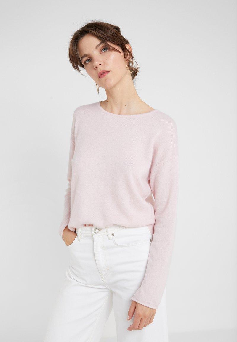 Davida Cashmere - NECK LONG - Stickad tröja - light pink
