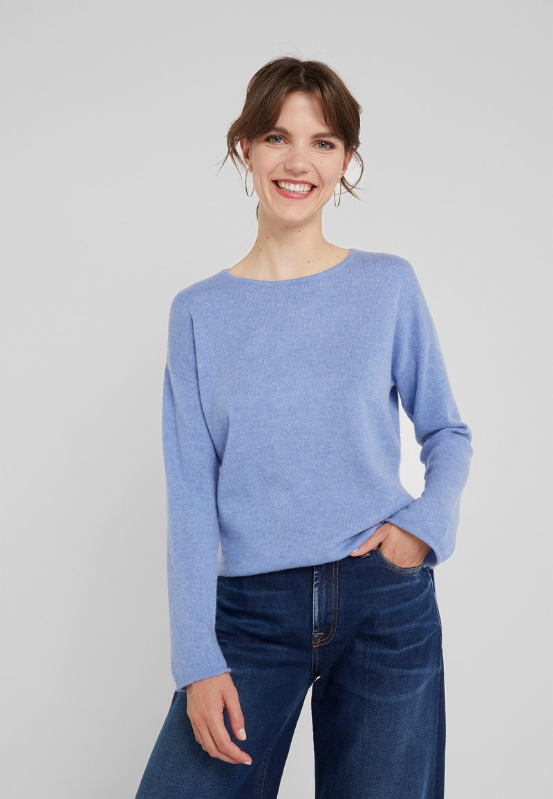 Davida Cashmere - NECK LONG - Trui - sky blue