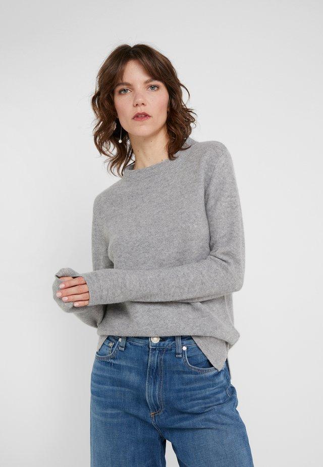 SEMI SLIT - Stickad tröja - light grey