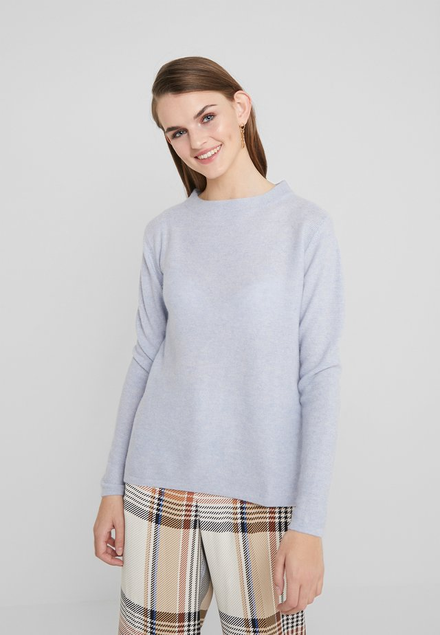 SEMI SLIT - Strickpullover - light blue