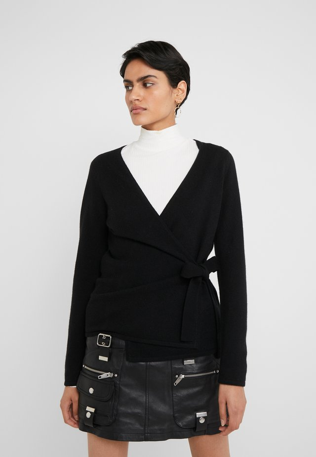 WRAP - Strikjakke /Cardigans - black