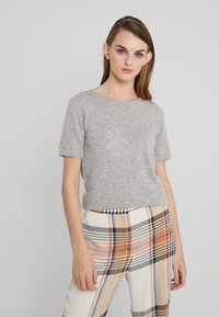 Davida Cashmere - T-Shirt basic - light grey - 0