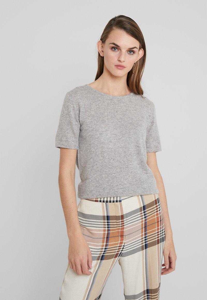 Davida Cashmere - T-Shirt basic - light grey