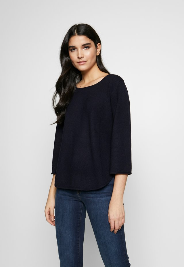 QUARTER WIDE SLEEVE - Strikkegenser - navy