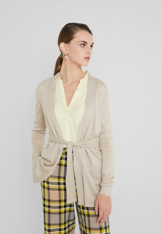 CLASSIC LONG CARDIGAN - Strickjacke - sandstone
