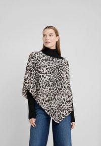 Davida Cashmere - TRIANGLE PONCHO - Poncho - animal light - 0