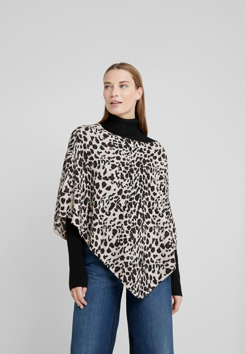 Davida Cashmere - TRIANGLE PONCHO - Poncho - animal light