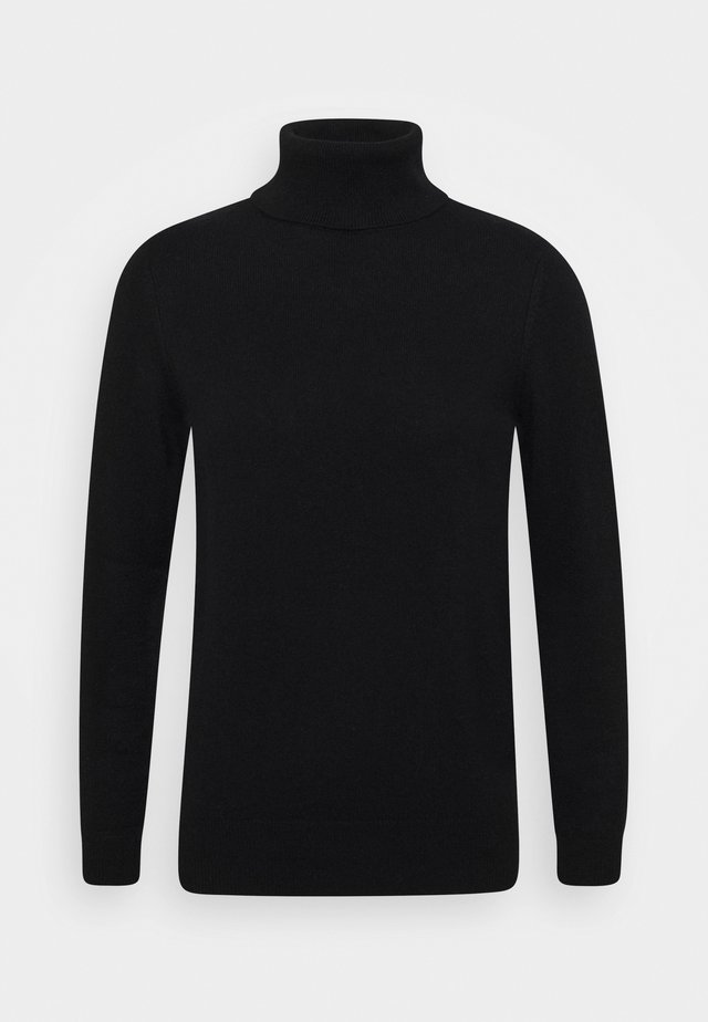 TURTLENECK - Stickad tröja - black