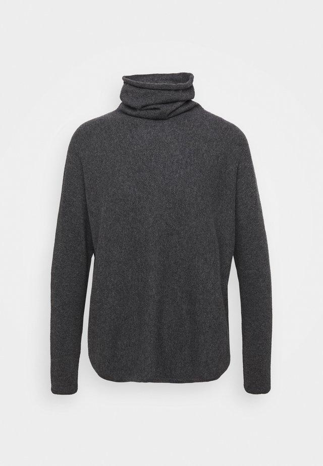 CURVED TURTLENECK - Pullover - dark grey