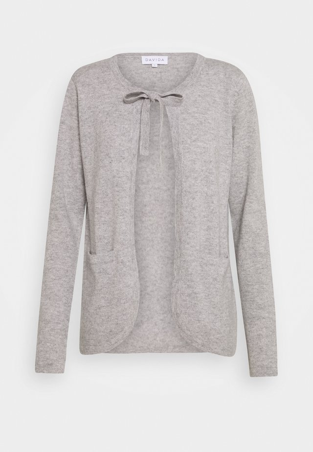 TIE NECK - Cardigan - light grey