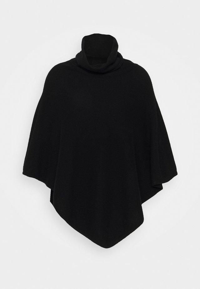 TRIANGLE POLO PONCHO - Cape - black