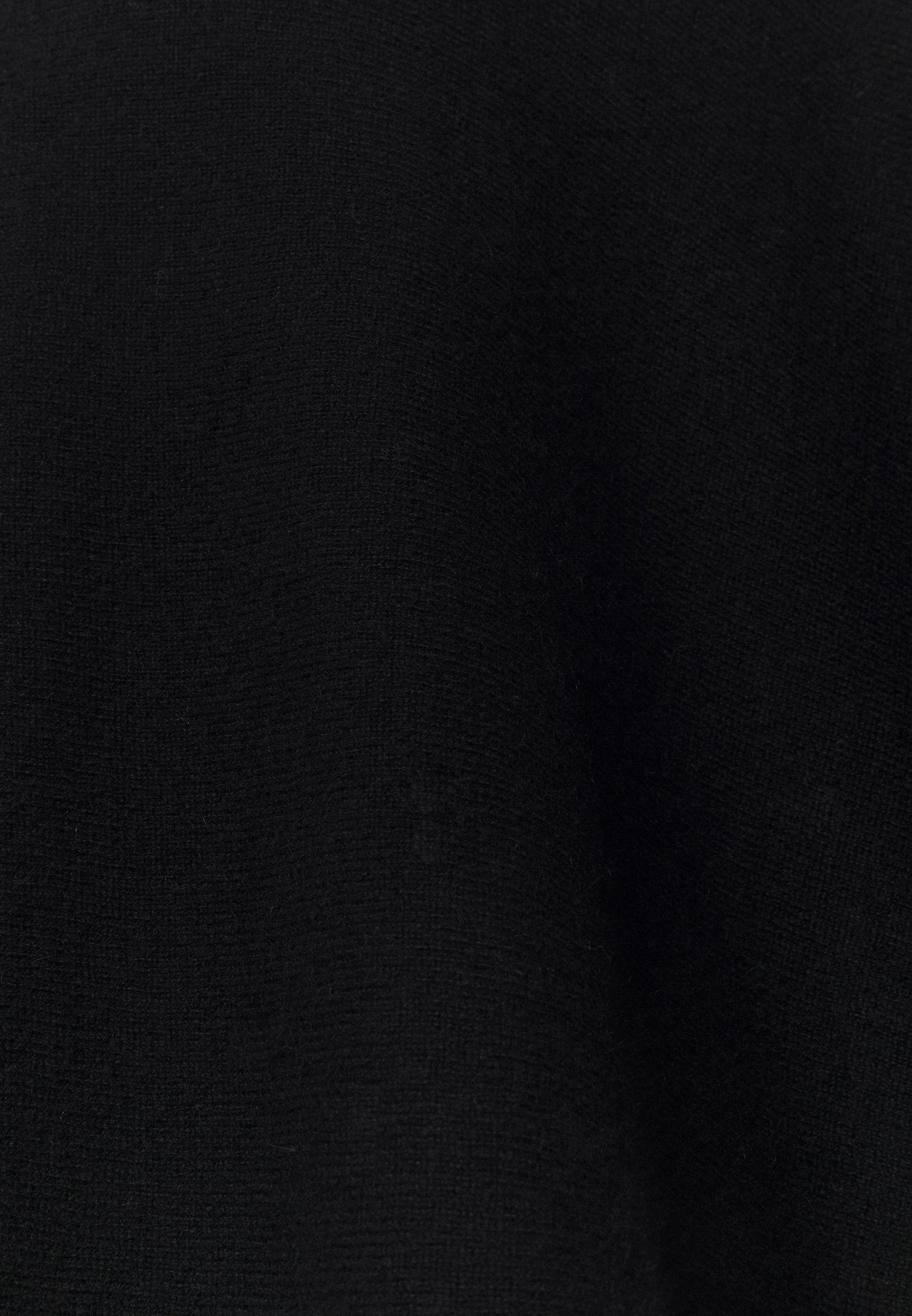 Davida Cashmere TRIANGLE POLO PONCHO - Cape - black - Pulls & Gilets Femme 0A27W