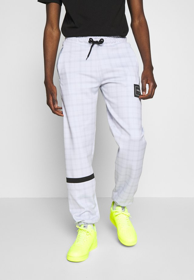 JOGGERS IN TECH CHECK - Spodnie treningowe - white
